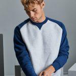LI, light oxford/indigo melange, Sweatshirts